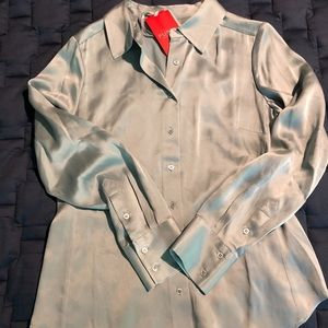 Pure Collection 100% silk satin blouse, 6. NWT
